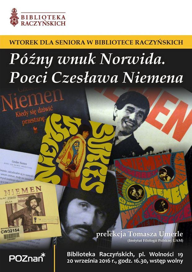 Wtorek dla seniora: Późny wnuk Norwida. Poeci Czesława Niemena / fot. poznan.pl