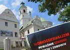 Ksiądz usunął homofobiczną wystawę z terenu parafii w Lublinie. Ale nie przez to, co było na banerach