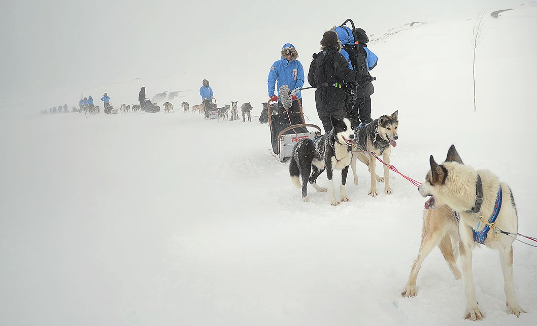 Trudne warunki na Fjällräven Polar (fot. archiwum prywatne)