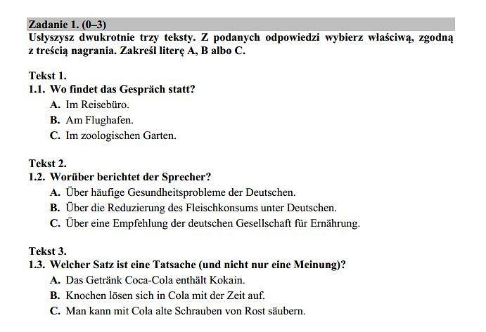 Matura 2015 język niemiecki poziom rozszerzony nowa matura