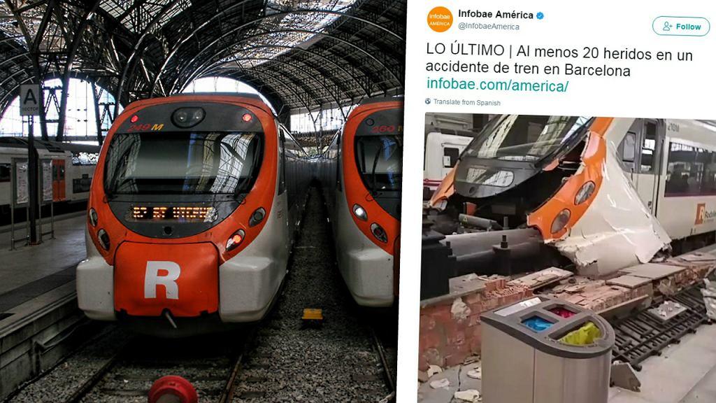 Wypadek pociągu w Barcelonie