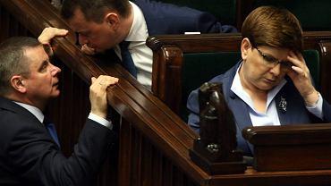 Premier Szydło w Sejmie