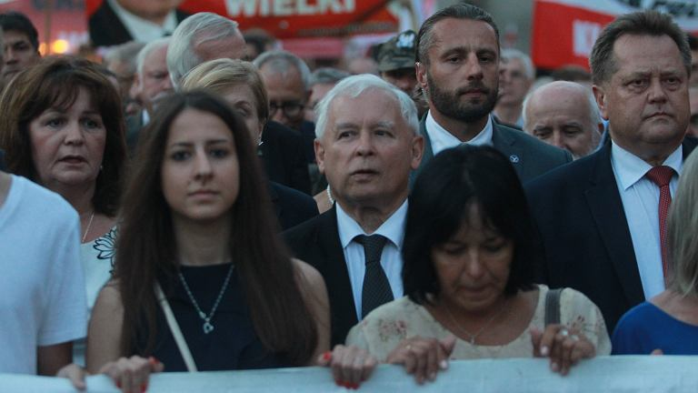 Prezes PiS Jarosław Kaczyński, 88. miesięcznica katastrofy smoleńskiej