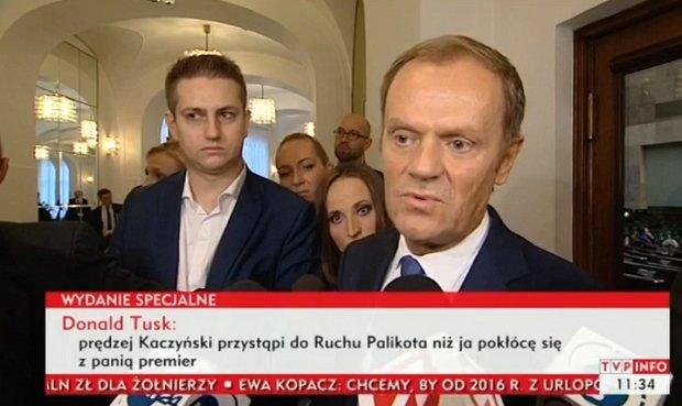 Tusk po expose Kopacz: Ma odwag� i potrafi wykona� gesty. Jestem poruszony