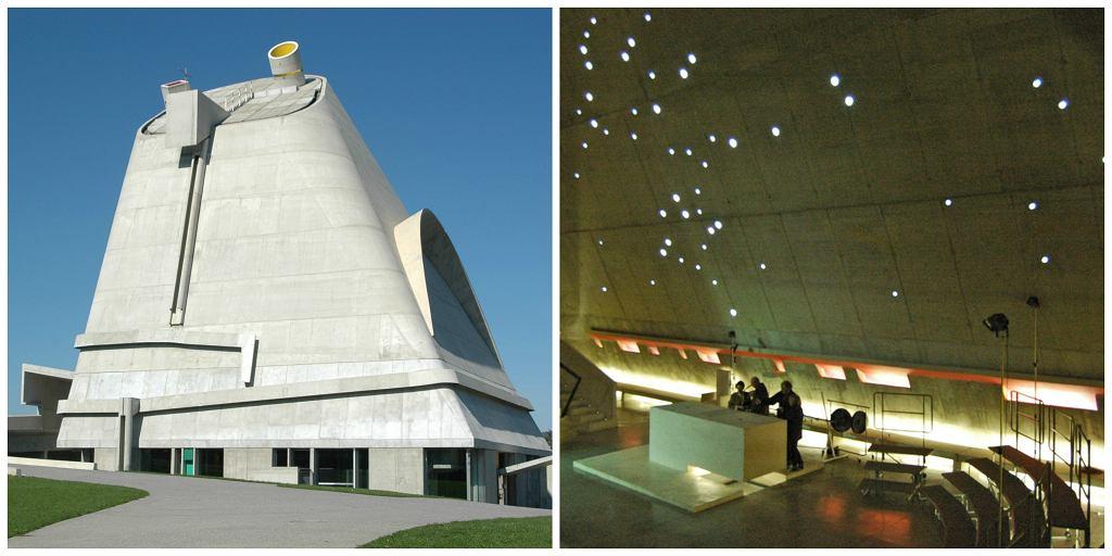 Kościół Saint-Pierre w Firminy był ostatnią ważną pracą Le Corbusiera. Budowę kaplicy zakończono w 2006 r., czterdzieści jeden lat po śmierci architekta (fot. lapin.lapin / Wikimedia.org / CC BY-SA 2.0 / Richard Weil / Flickr.org / CC BY-SA 2.0)