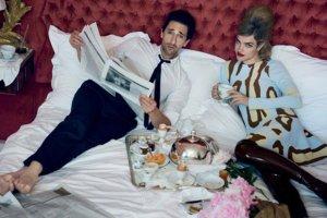 Natalia Vodianova w ��ku z Adrienem Brodym - wsp�lna sesja modelki i aktora w Vogue US [WSZYSTKIE ZDJ�CIA]