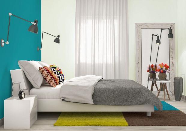 Kolory w sypialni: Poranna rosa i Magia turkusu