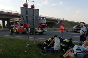 Wypadek na autostradzie A4 pod Opolem. Zderzenie czterech aut, pięć osób rannych