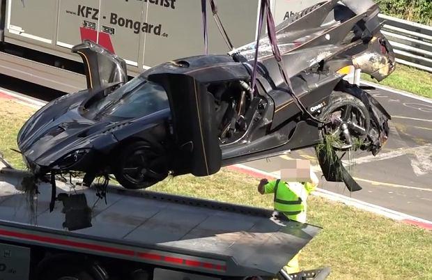 Koenigsegg One:1 | Bicie rekordu zako�czone wypadkiem