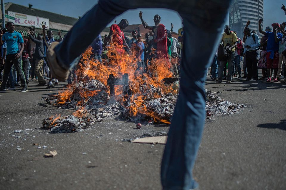 1.08.2018, zamieszki w Harare.