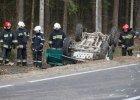 Wypadek samochodu straży granicznej. Dziewięciu funkcjonariuszy rannych