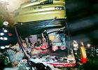 Tragedia na zakręcie śmierci w Leszczawie Dolnej. Autokar spadł ze skarpy. Nie żyją 3 osoby