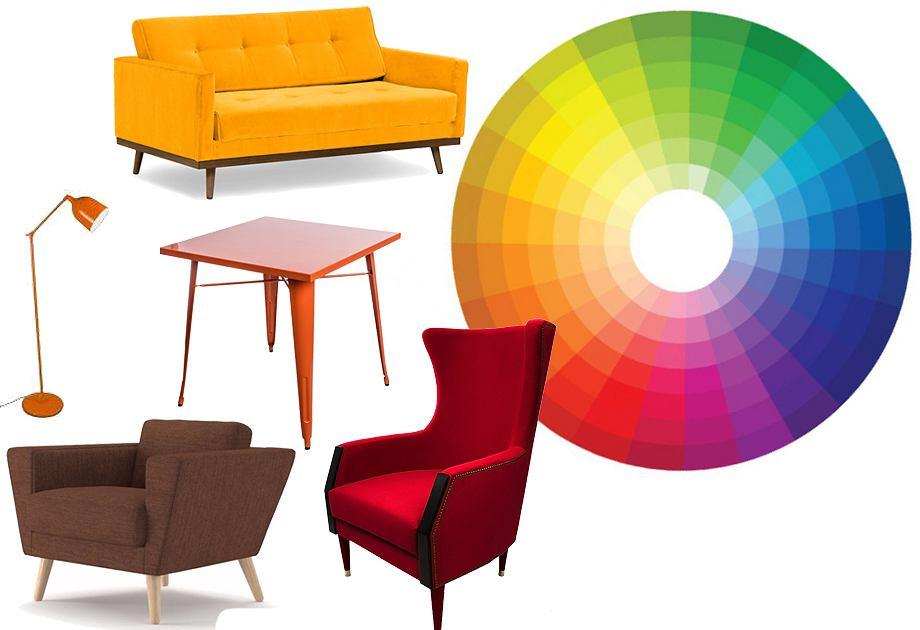 Barwy ciepłe - koło barw