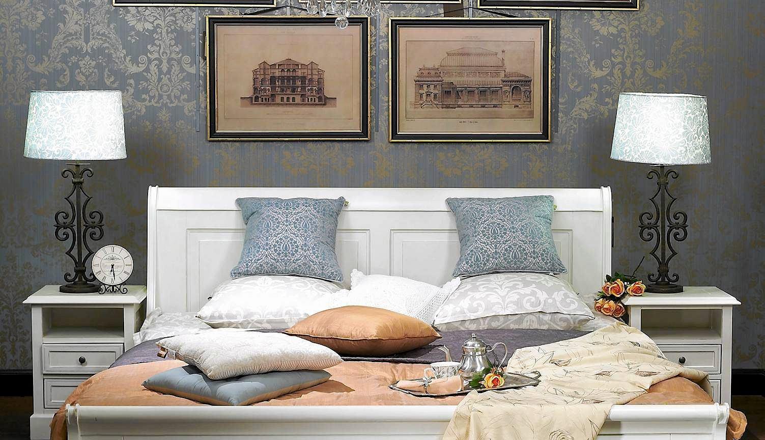 Meble do sypialni  nowoczesne białe systemowe