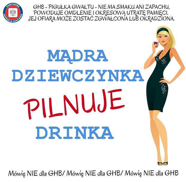 42db101081 Mądra dziewczynka pilnuje drinka  A może  mądry chłopiec nie wrzuca do  drinków pigułek gwałtu