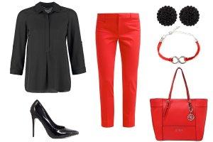 Czerń plus kolor - propozycje trzech stylizacji do pracy