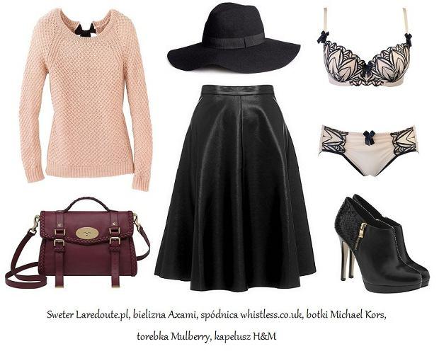 Skórzana spódnica - stylizacja