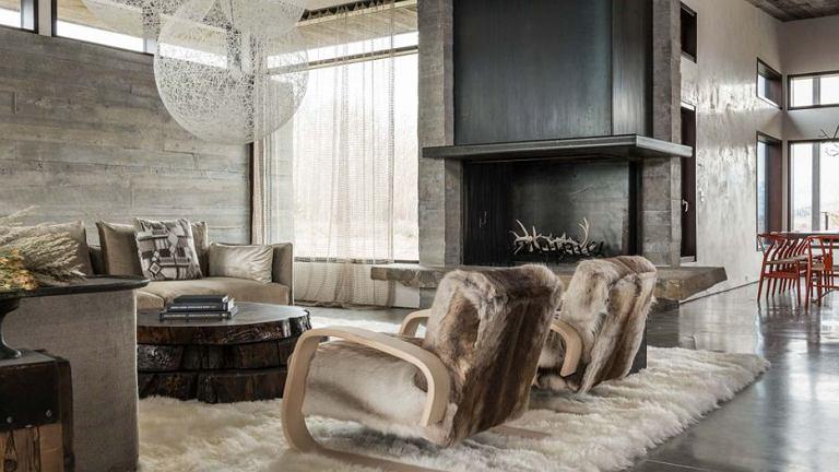 Dom JH Modern położony w górach w Wyoming, proj. Pearson Design Group