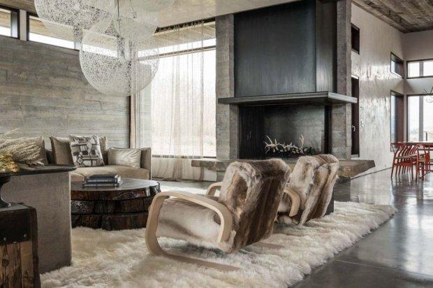 Dom JH Modern po�o�ony w g�rach w Wyoming, proj. Pearson Design Group