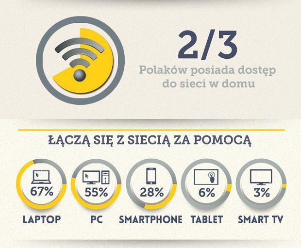 Urządzenia, z jakich Polacy łączą się z Siecią