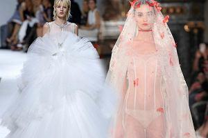d369e5a45b 13 mniej lub bardziej szalonych pomysłów na suknie ślubne z pokazów  couture. Będziecie zaskoczeni