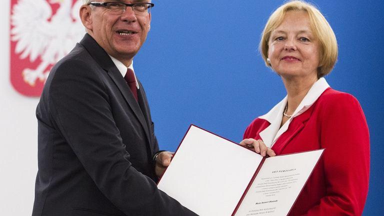 Spotkanie Rady Polonijnej. Marszałek Senatu Stanisław Karczewski i Maria Szonert-Binienda