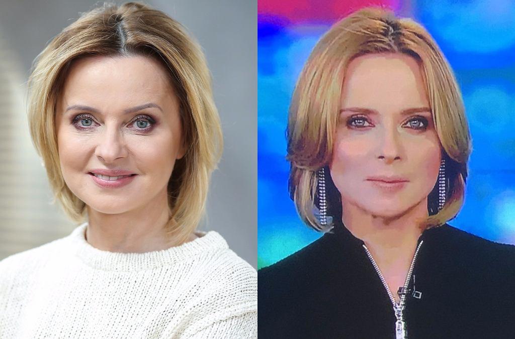 Jolanta Pieńkowska rok temu i teraz
