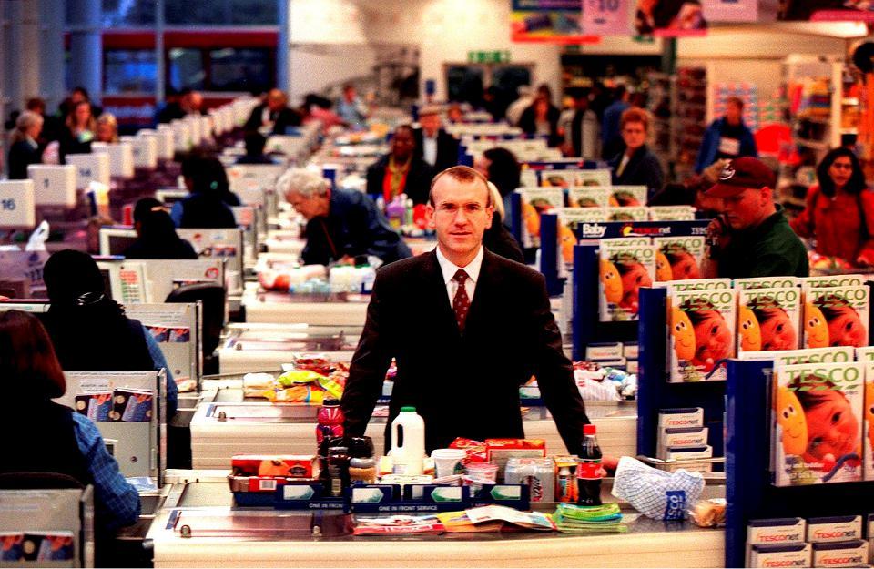 Terry Leahy - dziś już były szef Tesco, sklep w Londynie, 2000 r.