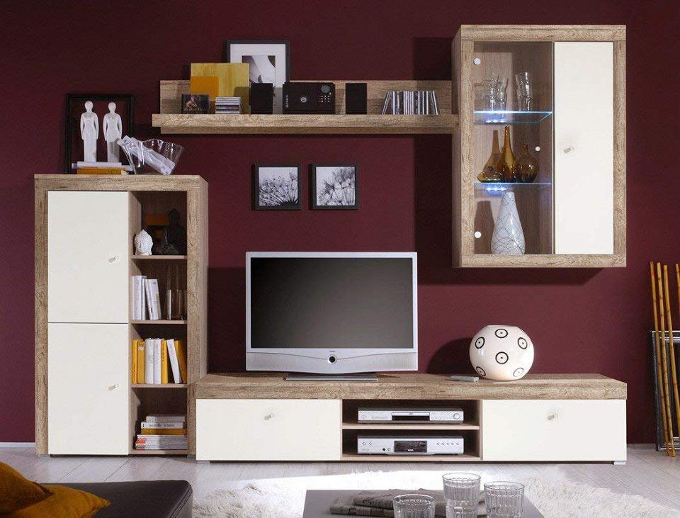 Komplet mebli do salonu - meblościanka z szafką pod telewizor