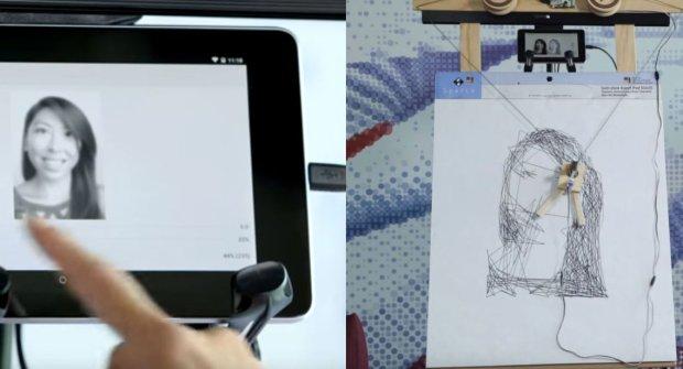 Google przetwarza zdjęcia na fizyczne rysunki