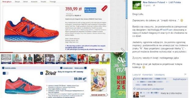 Firma New Balance próbowała ośmieszyć Lidl Polska