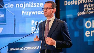 Premier Mateusz Morawiecki na konwencji PiS w Bydgoszczy