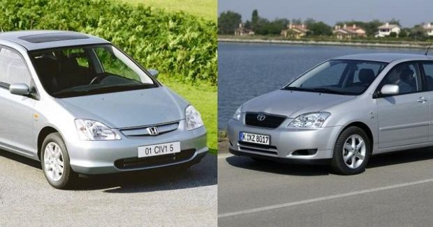 Pojedynek u�ywanych | Civic vs Corolla