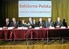 """Konferencja po konwencji regionalnej.""""Solidarna Polska"""" ogłasza program polityczny przyszłej partii."""