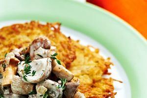 Dzi� na obiad placki ziemniaczane z grzybami
