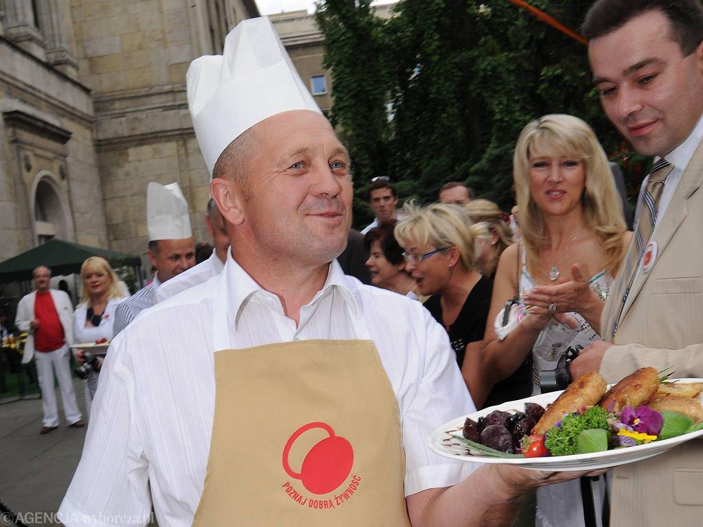 Czerwiec 2008 - min. Marek Sawicki podczas pikniku 'Poznaj dobrą żywność'