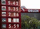Centry benzyny na jednej ze stacji w Warszawie (listopad 2011)
