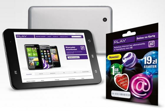 Play rusza z now� promocj�. Tablet ZTE Light do wzi�cia za 699 z�otych
