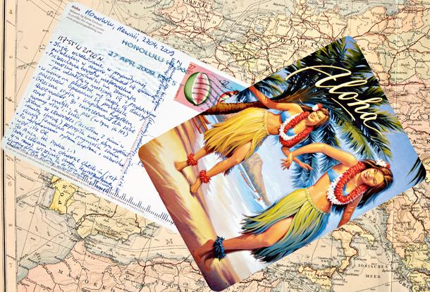 podróżnik, podróże, Muturi, pocztówka