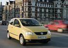 VOLKSWAGEN Fox, rok produkcji 2005, coupe, widok przedni prawy, samoch�d 3-drzwiowy, kolor ��ty