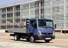 NISSAN Cabstar 35.11 Euro 4, rok produkcji 2007, pick up, widok przedni prawy, kolor niebieski jasny