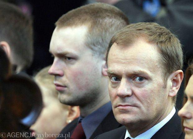 Donald Tusk z synem Micha�em