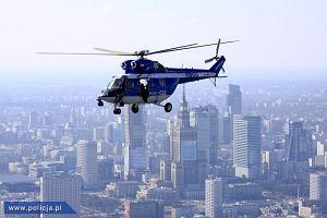 Warszawa jak metropolia: widok z policyjnego śmigłowca