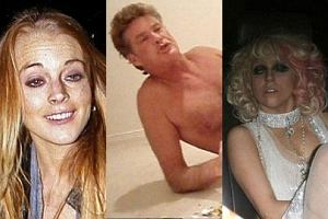 Lindsay Lohan, Lady Gaga, David Hasselhoff.