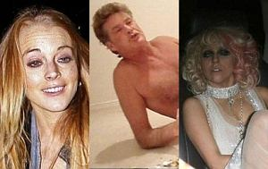 Lindsay Lohan, Lady Gaga, David Hasselhoff