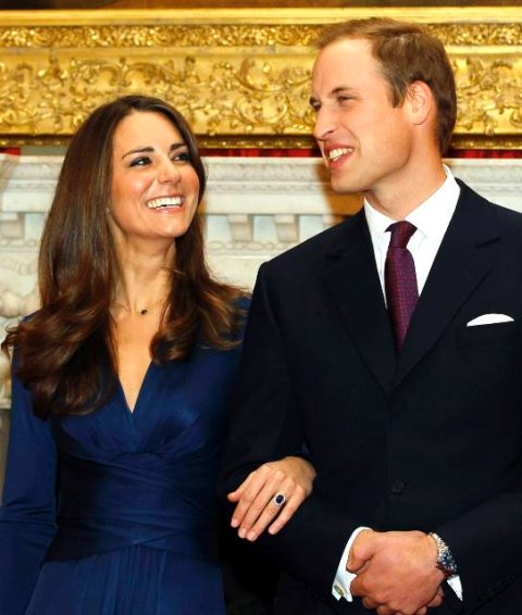 FILE - In this Nov. 16, 2010 file photo, Britain's Prince William and his fiancee Kate Middleton pose for the media at St. James's Palace in London, after they announced their engagement. Few people seem the least bit concerned that Prince William and Kate Middleton, set for the royal wedding on April 29, have been living together off and on since their university days. (AP Photo/Kirsty Wigglesworth, File)