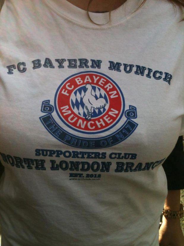 Kibice Tottenhamu wspierają Bayern w finale Ligi Mistrzów