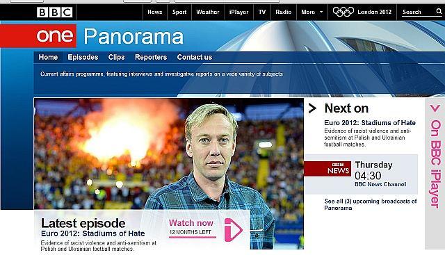 Strona brytyjskiego programu Panorama