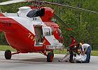 Helikopter zabrał ciało znalezionego turysty.