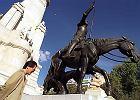 Madryt - Plac Hiszpanii (Plaza de Espana) ze s�ynnym pomnikiem Cervantesa